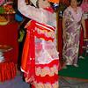 Dancer Praying With Leaves<br /> Nat Festival<br /> Hintha Gon Shrine<br /> <br /> Bago, Burma<br /> 25 December 2012