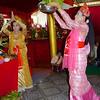 Dancers With Food Offering<br /> Nat Festival<br /> Hintha Gon Shrine<br /> <br /> Bago, Burma<br /> 25 December 2012