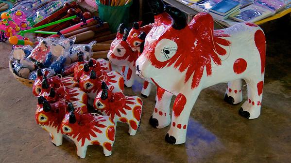 Takin Wooden Toys For Sale<br /> Hintha Gon Shrine<br /> <br /> Bago, Burma<br /> 25 December 2012