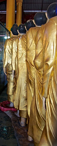 Gold Monk Statues Standing