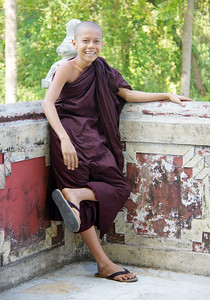 Relaxed and Happy Monk