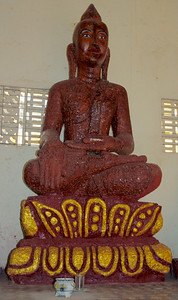 Brown Clay Buddha Statue