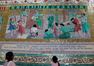 People Reading the Mural's Story