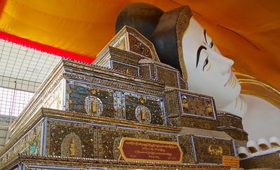 Buddha Head and Mosaic Pillows