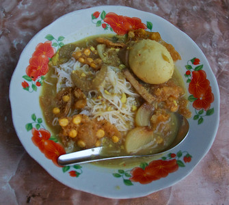 Mohinga with Duck Egg