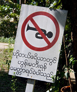 Old-Fashioned Symbol with Modern Message: No Horn Honking
