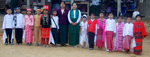 Students Dressed in Traditional Attire