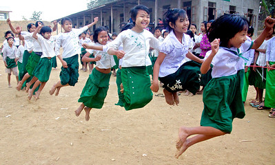 Girls Jumping a Long Rope