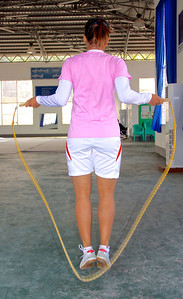 Warmup by Jumping Rope