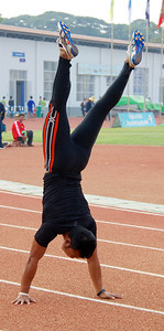 Warmup with a Handstand