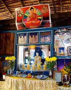 Buddhist Shrine Inside a Living Room Alcove