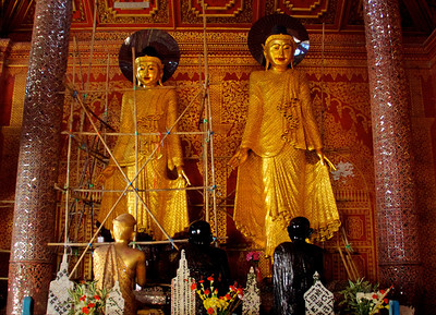Two Buddha Standing Statues