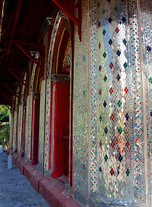 Glass Mosaic Columns