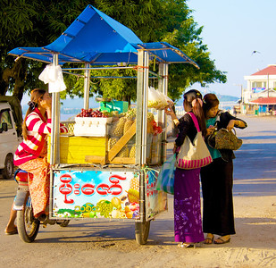 Fruit Stand on Wheels