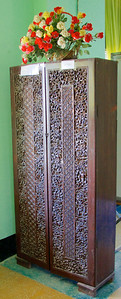 19th Century Wood-Carved Armoire