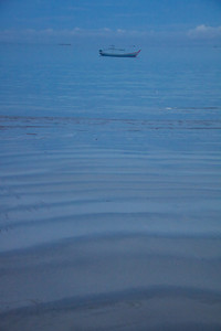 Sand Ripples and Fishing Boat