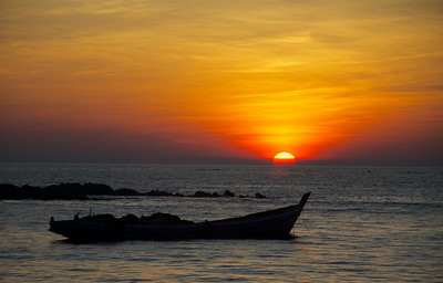 Sunset and Fishing Boat