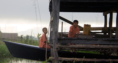 Young Boys Playing on a Boat