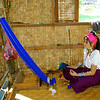 Another Padaung Girl with a Backstrap Weaving Loom