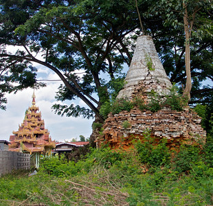 New Temple and Old Stupa