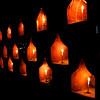 Candles Lit along Exterior Wall