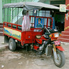 Motorcycle Truck with General Bogyoke Aung San Poster