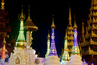 Stupas With Special Night Lights