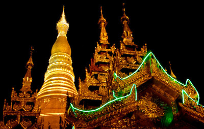 Pagoda and Temples With Special Night Lights