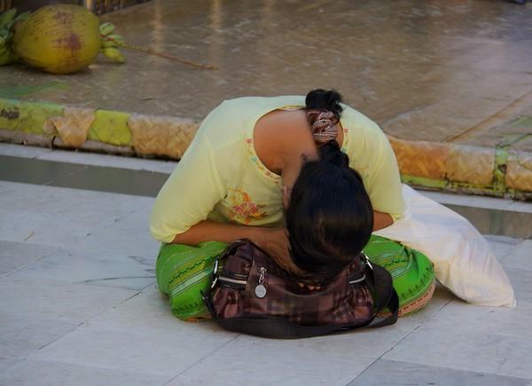 Deep In Prayer<br /> Shwedagon Pagoda<br /> <br /> Yangon, Burma<br /> 5 October 2013