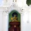 Buddhist Monk Meditating<br /> Shwedagon Pagoda<br /> <br /> Yangon, Burma<br /> 5 October 2013