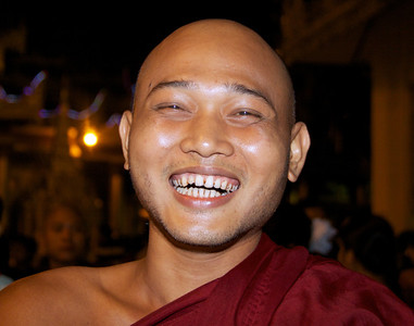 Cheerful Buddhist Monk
