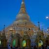 Large Stupa At Dusk 1<br /> Shwedagon Pagoda<br /> <br /> Yangon, Burma<br /> 5 October 2013