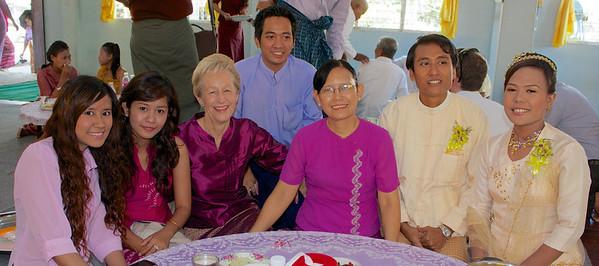 International School of Myanmar Staff with Groom and Bride