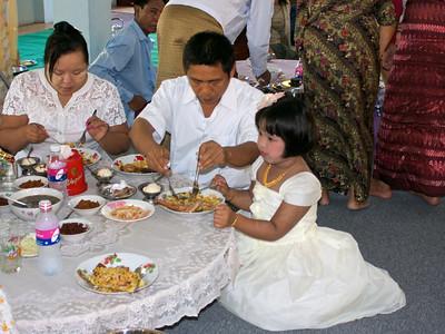 Family Enjoying the Food