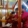 Team 9: Weavers In Action<br /> Mahoe Robe Weaving Competition<br /> Shwedagon Pagoda<br /> <br /> Yangon, Burma<br /> 27 November 2012