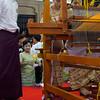 Team 6: Official Watching The Weavers<br /> Mahoe Robe Weaving Competition<br /> Shwedagon Pagoda<br /> <br /> Yangon, Burma<br /> 27 November 2012