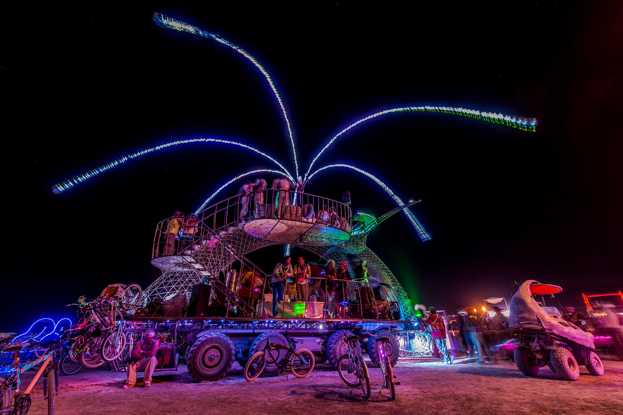 Art Car Credit:<br /> Sil Vi Bojon<br /> by Marco Cochrane<br /> Treasure Island, Ca.