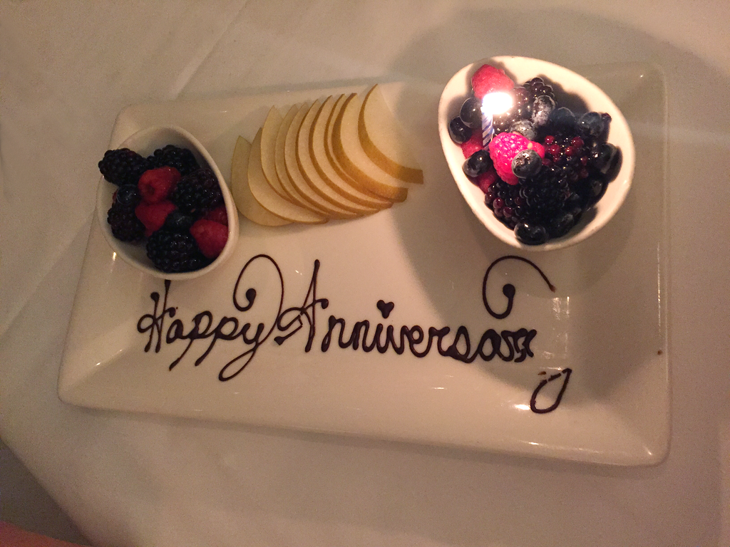 Happy Anniversary Dessert at Atlantis Steakhouse in Reno