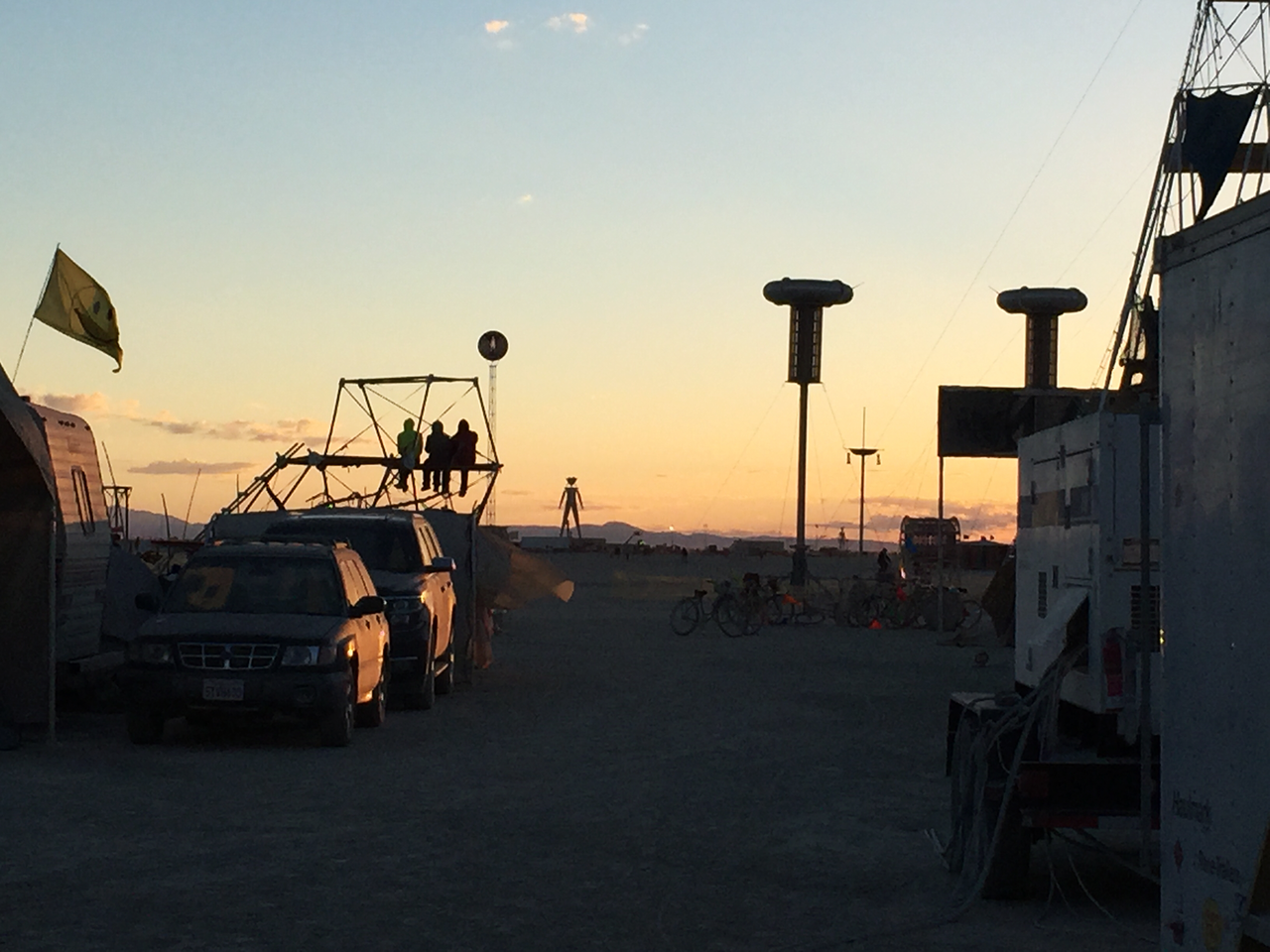 Sunrise on the Playa as viewed from Dustfish on Esplanade
