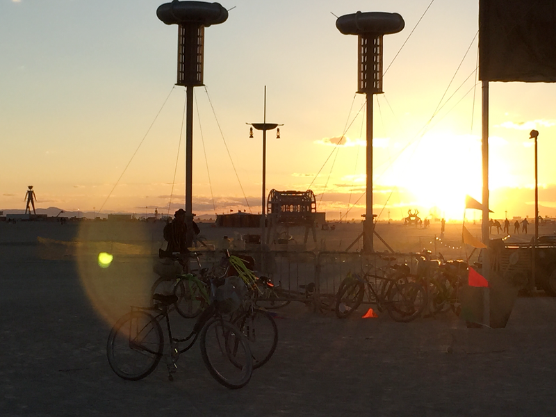 Sunrise on the Playa as viewed from Dustfish on the Esplanade