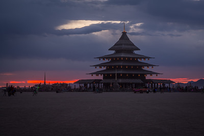 Temple At Sunrise, by David Best & Crew