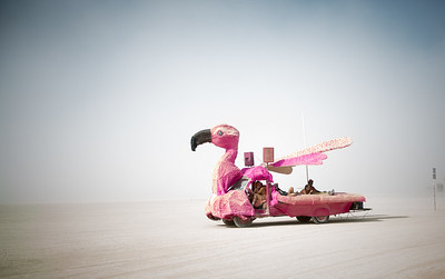 Pink Flamingo Art Car