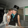 Me and Megan LaBonte inside the Vegan Bus at Burning Man