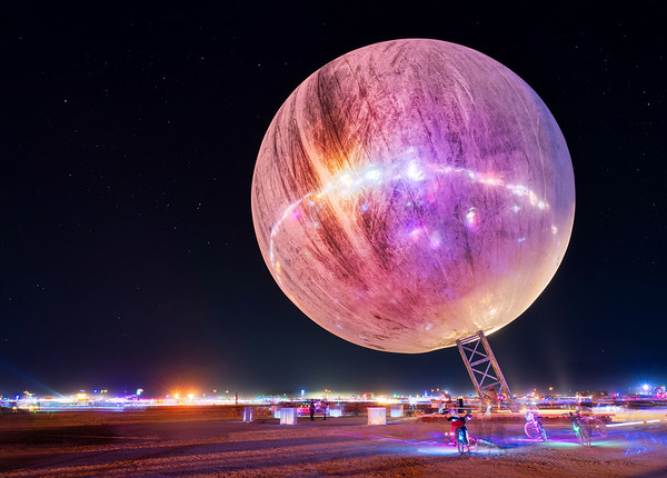 The Mirror Ball at Night
