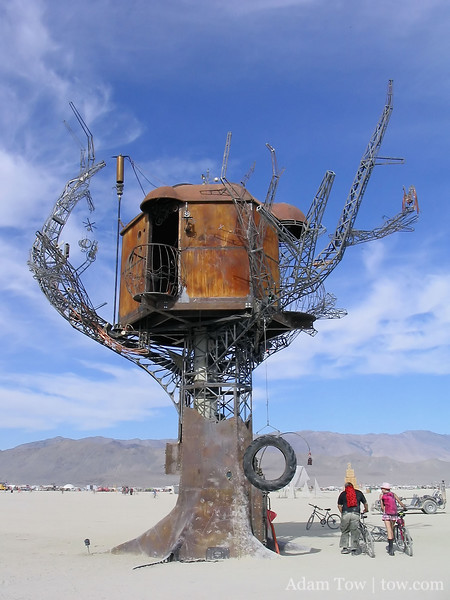 The metal treehouse again