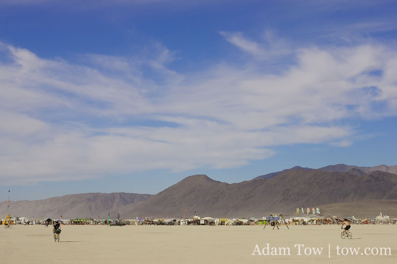 The harsh desert scene at Burning Man
