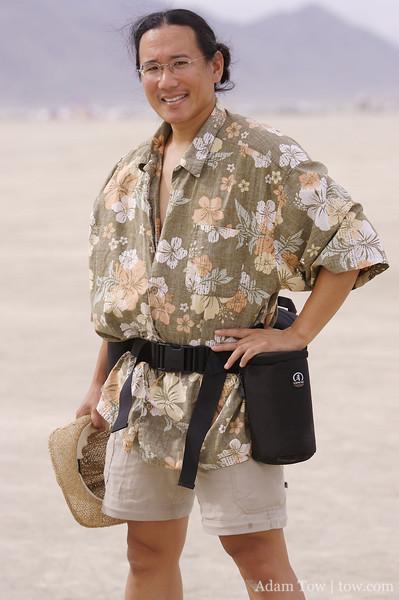Adam in desert gear
