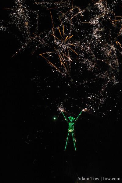 Fireworks before the Burn