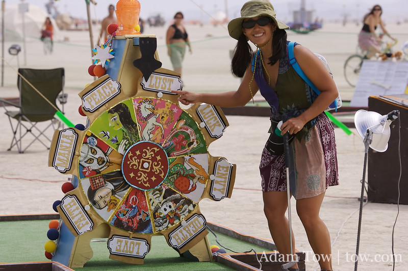 Spinning wheel of golf