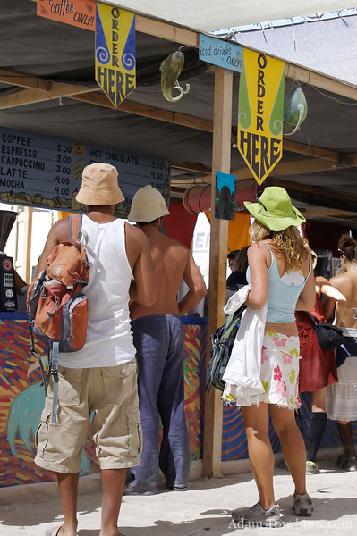 Coffee is the other item for sale at Burning Man